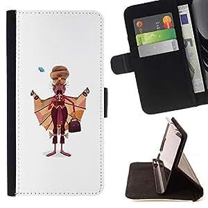 Momo Phone Case / Flip Funda de Cuero Case Cover - Sikh Hombre Arte Dibujo India sijismo Vestimenta - Samsung Galaxy S6 EDGE