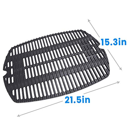 Series Cooking (Hosom 7645 Cast-Iron Cooking Grates for Weber Q200, Q2000 Series,Q2400, Grill Parts Grill Grates Replace Weber 7645 Models-PCG02(Set of 2, 21.5'' x 15.3'' for Total))