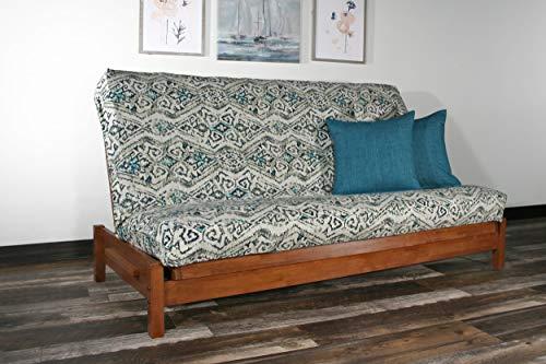 Strata Furniture Tozi Warm Cherry Full Wall Hugger Futon Frame (KD)