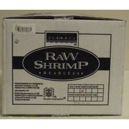 Seamazz Easy Peel White Shrimp, 16/20 Count -- 10 per case. by The Mazzetta Company