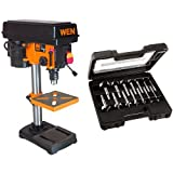 WEN 4208 8-Inch 5-Speed Drill Press & PORTER-CABLE PC1014 Forstner Bit Set, 14-Piece