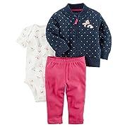 Carter's Baby Girls' 3 Piece Rainbow Print Little Jacket Set 6 Months