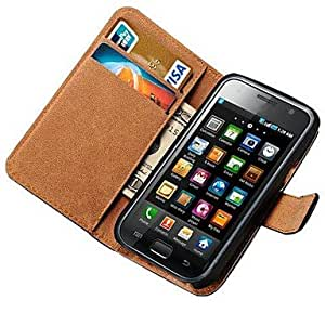 Genuine Leather Case for Samsung Galaxy S i9000 i9001 with Card Holders , Line 1