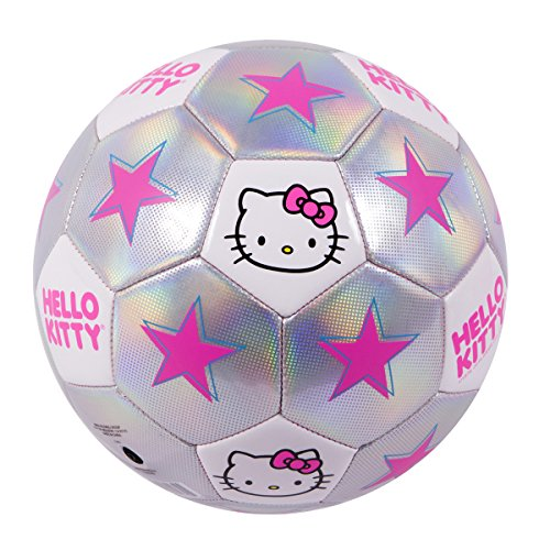 Hello Kitty Go! Model 1601 Soccer Ball, Size 4 Silver/Pink (Pink Soccer Ball)