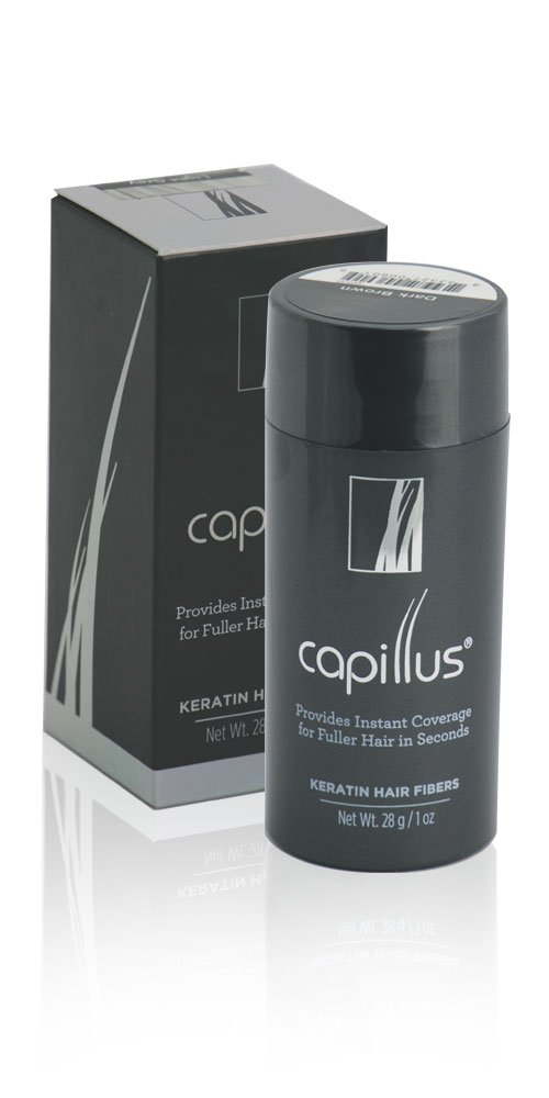 CAPILLUS Keratin Hair Fibers (Medium Brown) - The Temporary, Quick Fix That Provides Instant Coverage for Fuller Hair in Seconds