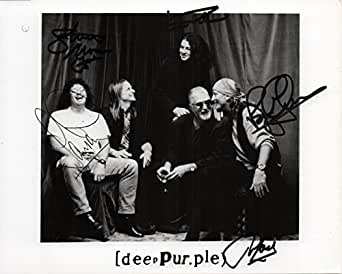 Deep Purple band RARE hand SIGNED Promo photo by all 5 JSA LOA Jon Lord +
