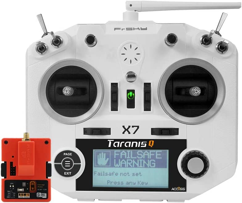 FrSky Taranis Q X7 Access 2.4GHz 24CH Mode2 Transmitter with R9M 2019 Long Range Module - White