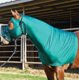 Sleazy Sleepware Stretch Horse Hoods Royal Blue (Large (1100-1400 lbs))