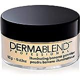 Dermablend Illuminating Banana Powder, Loose Setting Powder Makeup for Brightening and a Long-Lasting Luminous Finish, up to