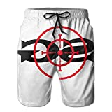 Men Sniper Gang Gang Target Beach Shorts Swimming Trunks Cargo Shorts
