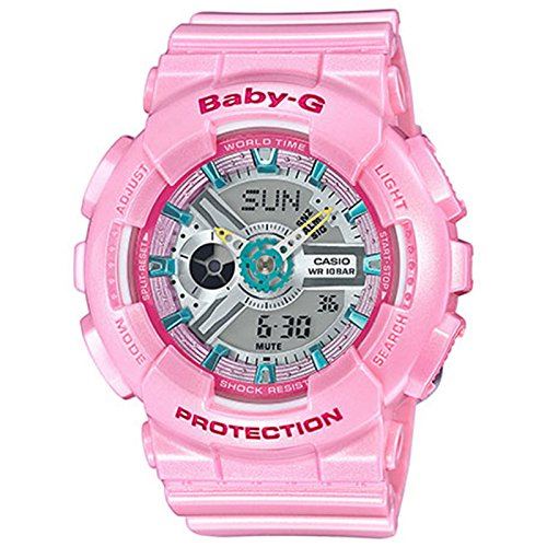 Ladies' Casio Baby-G Pink Resin Watch BA110CA-4A