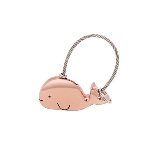 Amazon.com: hehing Cute portátil ballena llaveros llavero ...