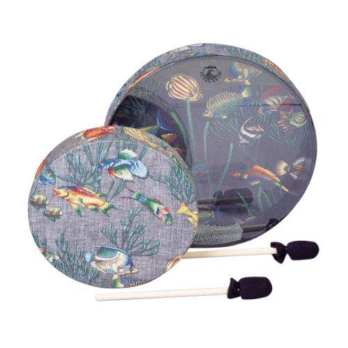 Remo OCEAN DRUM, 22'' Diameter, 2 1/2'' Depth, Fish Graphic
