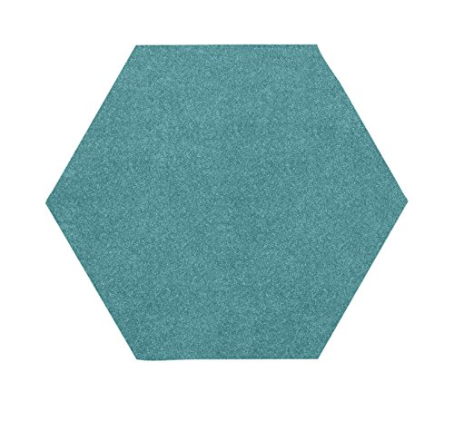 Bright House Solid Color Area Rug  6 L   Hexagon  Teal