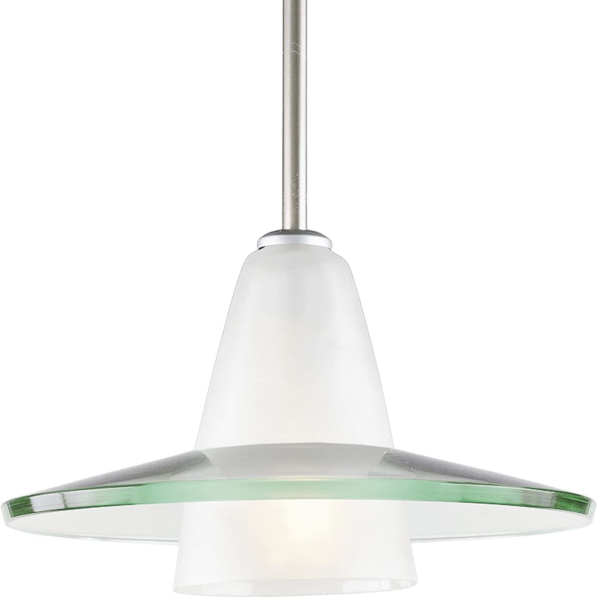 Progress Lighting P5011-09 Pendants, 12-Inch Diameter x 7-5 8-Inch Height, Nickel