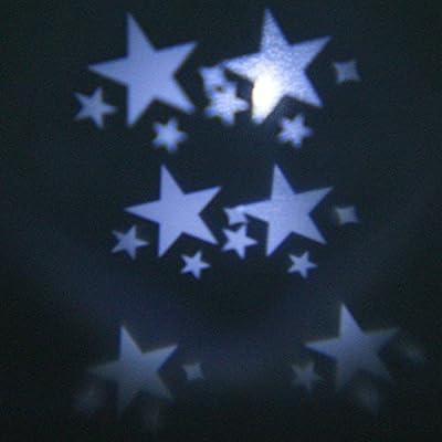 KRISMILEN White Star Lawn LED Flood Projector Light Waterproof Outdoor Mood Starry Night Lamp Christmas