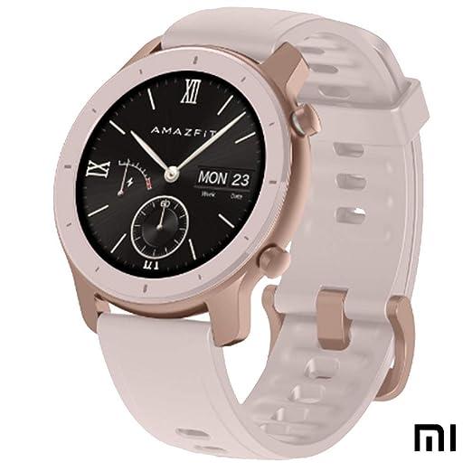 "Xiaomi Amazfit GTR Reloj Smartwatch Deportivo | 42mm | 18 días de batería | AMOLED de 1.2"" | GPS + GLONASS | Frecuencia cardíaca Continua de 24 Horas (Android 5.0 e iOS 10.0) - Cherry Blossom Pink"