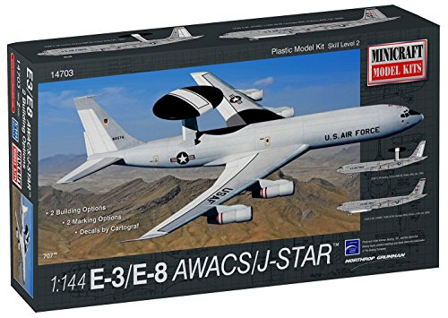 Minicraft Model Kits - Minicraft E-8 AWACS/Joint Star Model Kit (1/144 Scale)