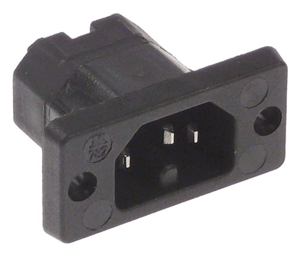 Warmger/äte-Stecker Schraubanschluss Loch 3,5mm Thermoplast 10A//250V C16 T120 C16 Schraubanschluss max 10A//250V T120