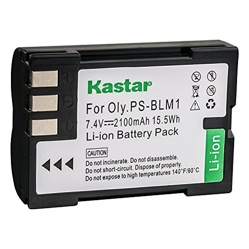 Kastar Battery for Olympus PS-BLM1 BLM-1 BLM-01 and Olympus C-5060wide Camedia C-5060 Wide Zoom C-7070 Camedia C-8080 Wide Zoom Olympus E-1 E-3 E-30 Olympus EVOLT E-300 E-330 E-500 E-510 E-520