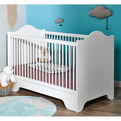 Alfred & Compagnie Soldes - Lettino per Bebè, 70 x 140 cm, colore  Bianco