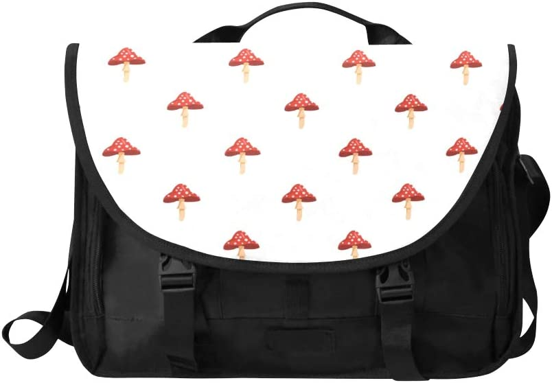 Womens Satchel Handbag Cartoon Colourful Cep Mushroom Multi-Functional Laptop Briefcase Women Fit for 15 Inch Computer Notebook MacBook