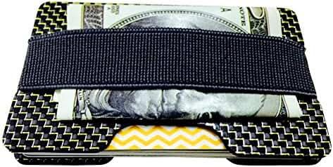 Carbon Fiber RFID Blocking Money Clip Credit Card Holder Slim Wallets for Men