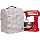 HOMEST Stand Mixer Cover Compatible with KitchenAid Bowl Lift 5-8 Quart,Dust Cover with Zipper Pocket for Accessories, Ripple
