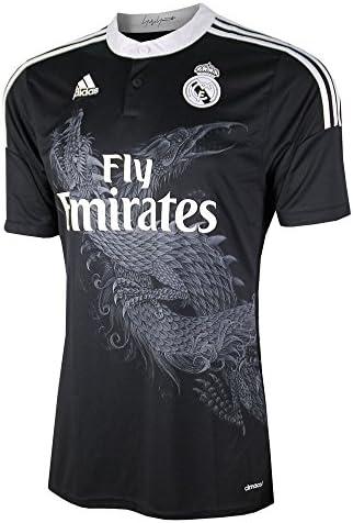 adidas Real Madrid C.F. Alternativa 2014/2015 - Camiseta de fútbol, talla M, color Negro: Amazon.es: Zapatos y complementos