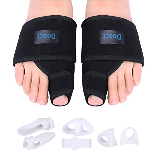 DOACT Bunion Corrector Day and Night Kit, Orthopedic Hallux Valgus Splint with 6 Pieces Gel Toe Separators for Bunion Pain Relief for Women and Men by DOACT