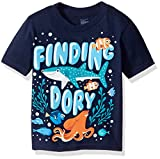 Disney Little Boys' Toddler Finding Dory Under the Sea Short Sleeve T-Shirt, Navy, 3T