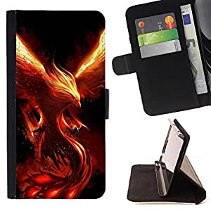For HTC Desire 626 & 626s Fire Dragon Monster Demon Phoenix Style PU Leather Case Wallet Flip Stand Flap Closure Cover