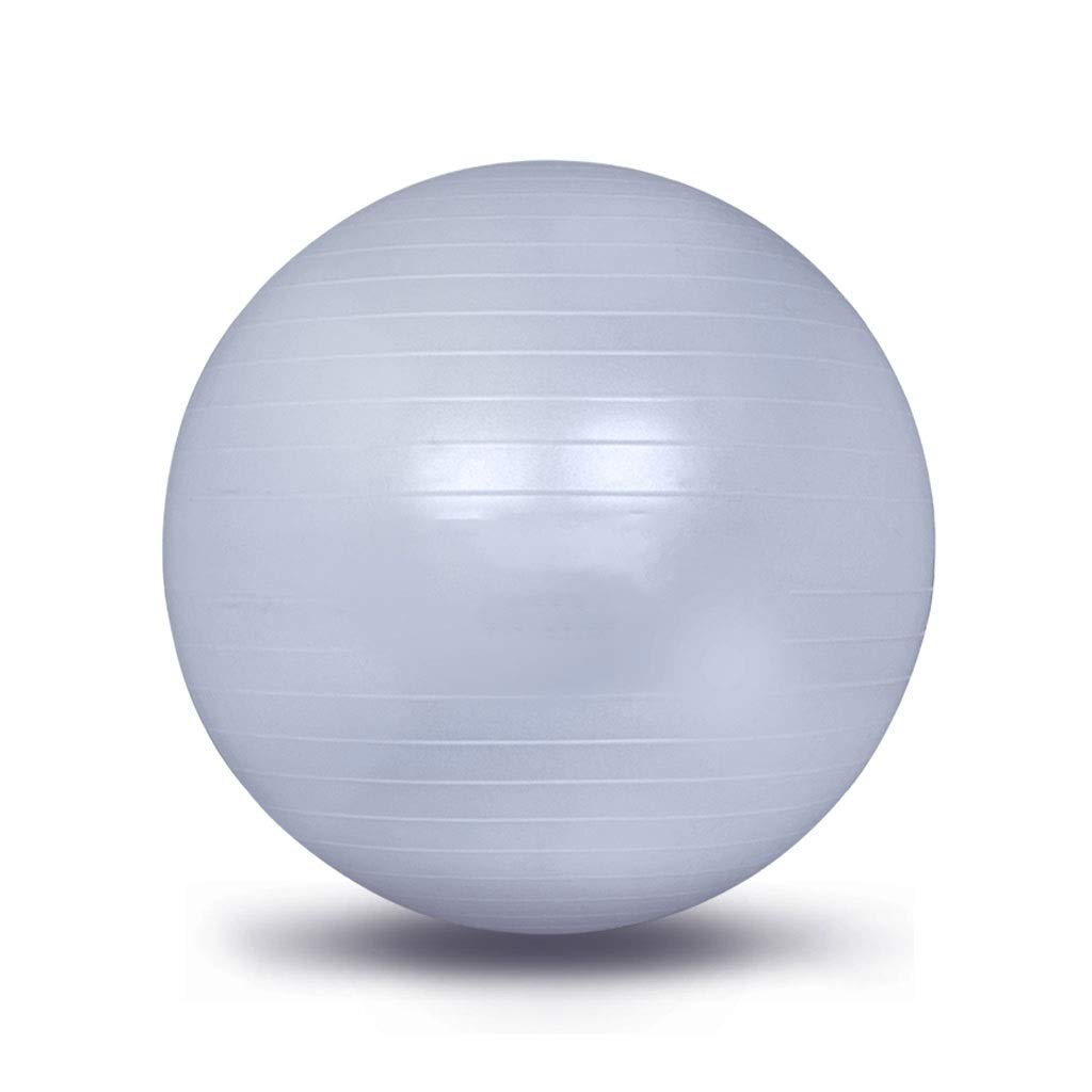 Exercise Yoga Ball, Gym Ball with Quick Pump Anti-Slip Exercise Ball Heavy Duty Gym Ball for Physical Therapy Gym and Home Exercise (Color : Gray, Size : 55cm)
