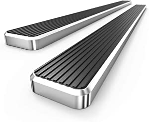 APS iBoard 304 Stainless Steel Polished 6in Silver Running Boards Custom Fit 2019-2020 Dodge Ram 1500 Quad Cab Pickup 4-Door for New Body Style Only (Will Not Fit 2018 Model) (Nerf Bars Side Steps)