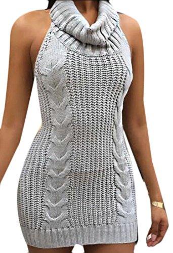 backless halter neck peplum dress - 6