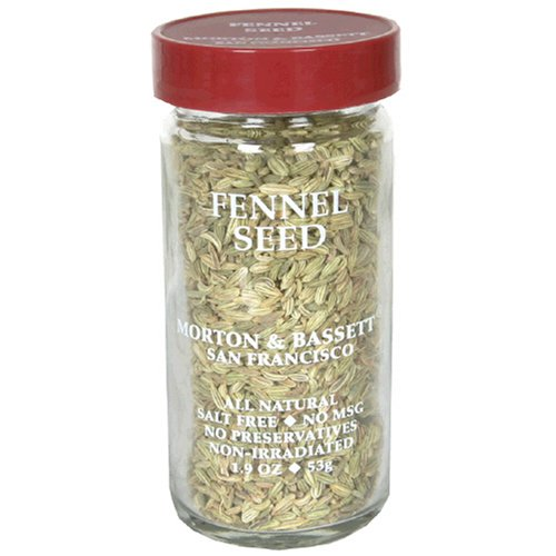 Morton & Bassett Fennel Seed, 1.7-Ounce Jars (Pack of 3)