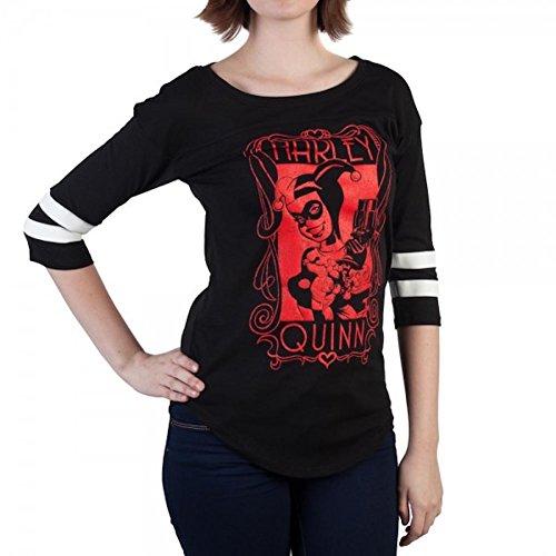 DC Comics Harley Quinn Yoke Ralgan Juniors T-Shirt (L)