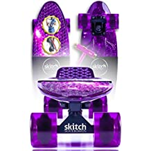 "Skitch 22"" Premium Mini Cruiser Skateboard Gift Set Bundles For All Ages – Complete Custom Skateboards Designed For Both Beginners And Pros (Includes FREE Skate Tool + Tote Bag + Skateboard Backpack)"