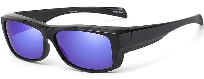 7580dca04f1c CAXMAN Polarized Fit Over Glasses Sunglasses for Prescription Glasses