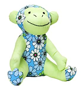 Color Zoo Mica the Monkey Stuffed Toy, Floral