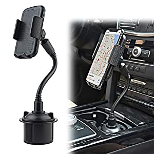 Car Cup Holder Phone Mount, Gresur Adjustable Gooseneck Smart Phone Car Cradle for iPhone 7 7P 8 8P X XS XR / Samsung…