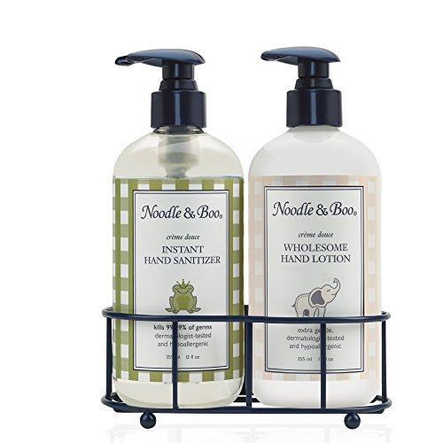 Noodle & Boo Hand Sanitizer & Hand Lotion Caddy Gift Set