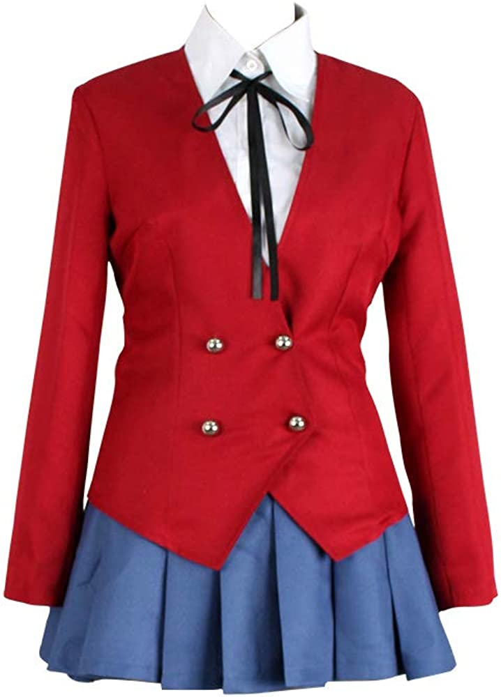 NEW Anime TIGER×DRAGON Toradora Aisaka Taiga Cosplay Costumes School Uniform