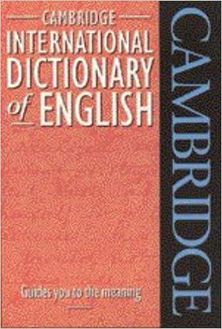 Cambridge International Dictionary of English Flexicover