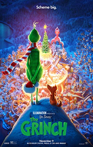 (THE GRINCH MOVIE POSTER 2 Sided ORIGINAL FINAL 27x40 DR. SEUSS BENEDICT)