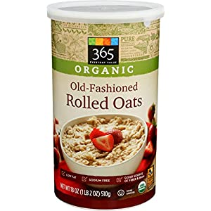 365 by Whole Foods Market, Organic Hot Cereal, Old-Fashioned Rolled Oats, 18 Ounce
