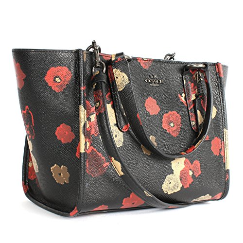 Coach 33856 Crosby Mini Floral Print Leather Carryall Bag Bn/black Multi -  Buy Online in UAE. | coach Products in the UAE - See Prices, Reviews and  Free ...