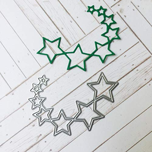 Metal Cutting Dies, Amiley Christmas Star Paper Cards DIY Cutting Dies Pregnancy Embossing Tool Stencil Template (B)