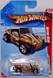 Mattel Hot Wheels 2010 Race World Beach Meyers Manx Gold Color Dune Buggy Die Cast Car Toy