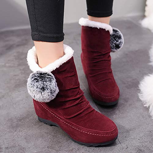 Moda Mujer Tacon rojo Calzado Martin Botines Zapatos gris xy142 40 Botas De Altas Cómodo 35 Cuña negro Rojo Invierno Logobeing Plataforma X7x4pwW